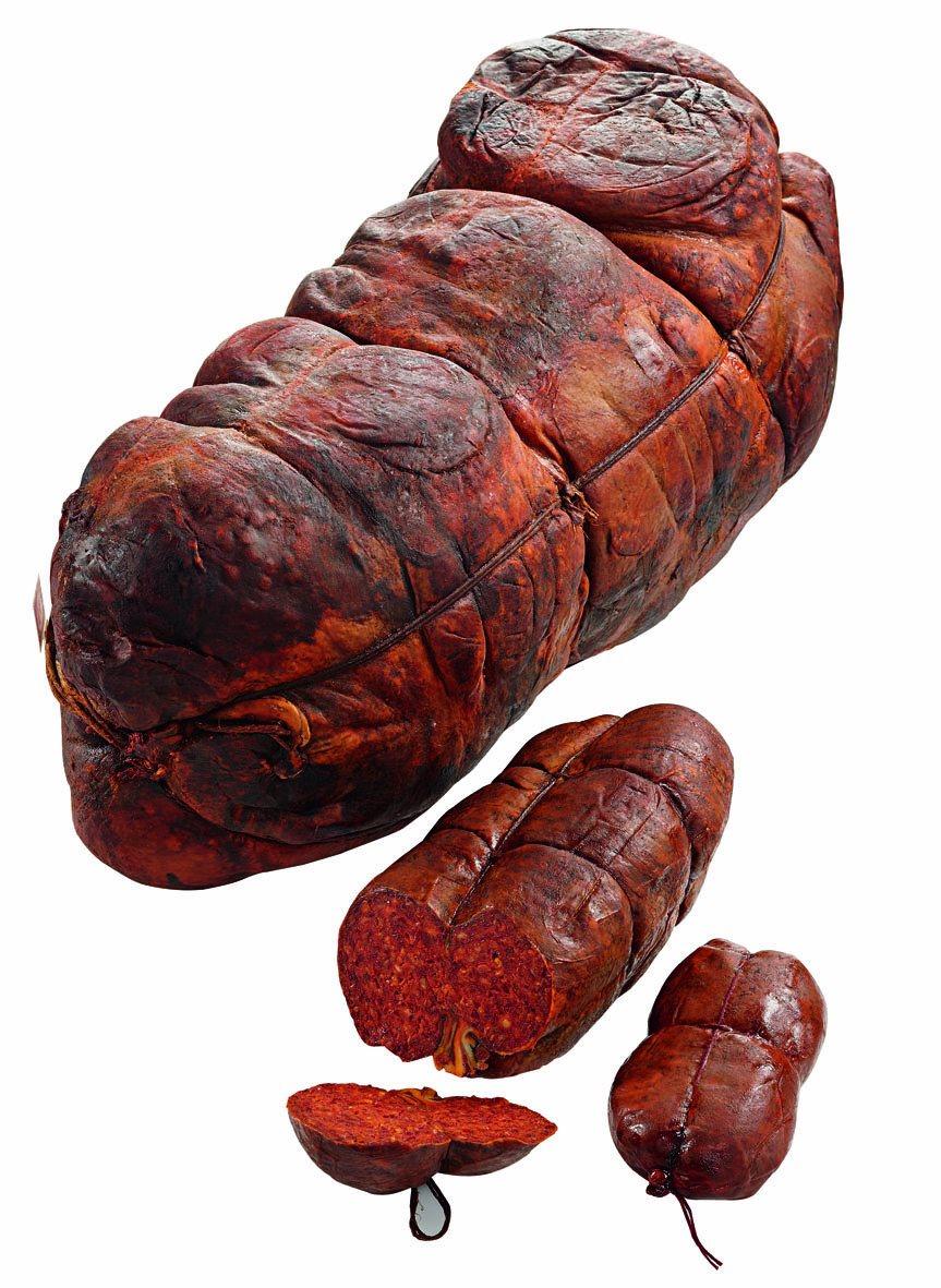 Nduja di Spilinga in budello ca. 350-400 g L'Artigiano della 'Nduja   ( Kühlartikel)