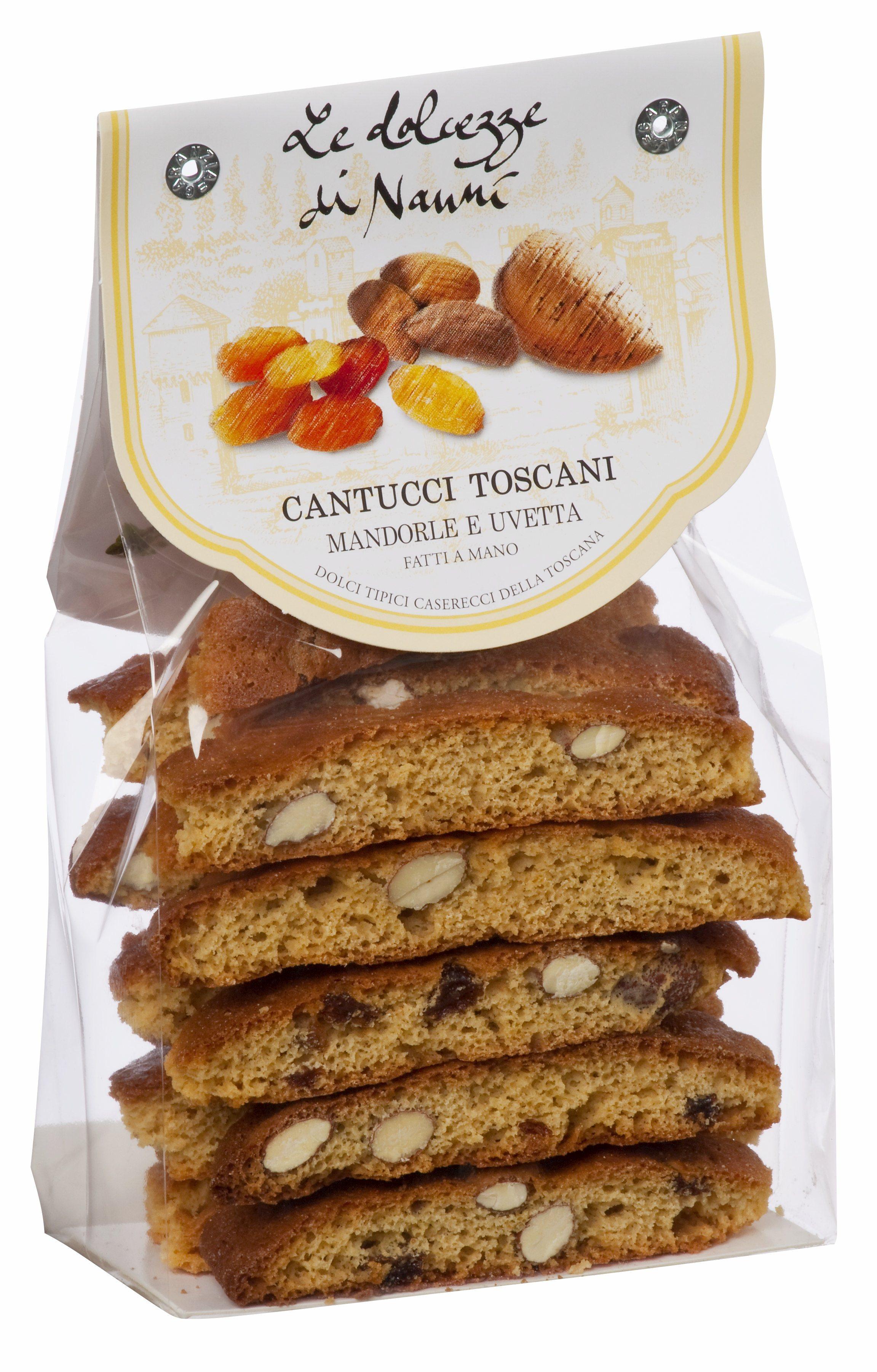 Cantucci con mandorle e uvetta, 262 Le dolcezze di Nanni 200 g Beutel
