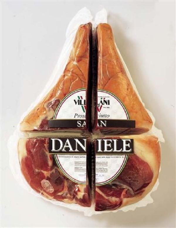 Prosciutto S. Daniele Spec ca.1,4- 1,7 kg San Danieleschinken 1/4 o. Kn.Villani  ( Kühlartikel)