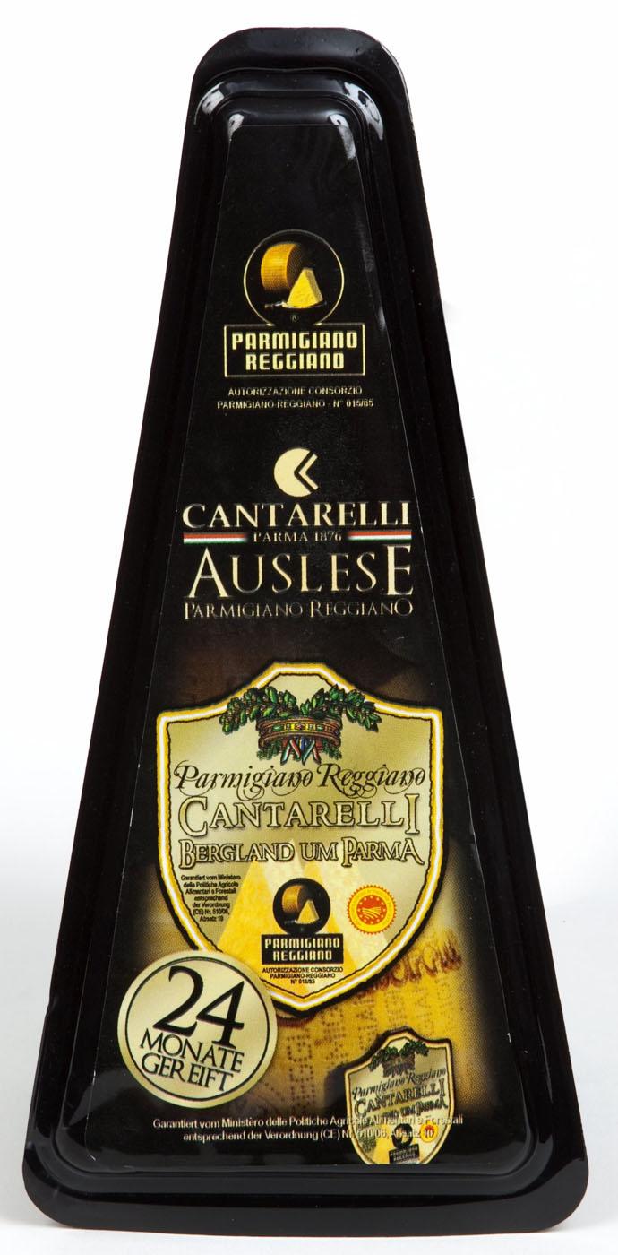 Parmigiano Reggiano Montagna di Parma 24 mesi 200 g Cantarelli Parmesankäse 24 Monate gereift  ( Kühlartikel)