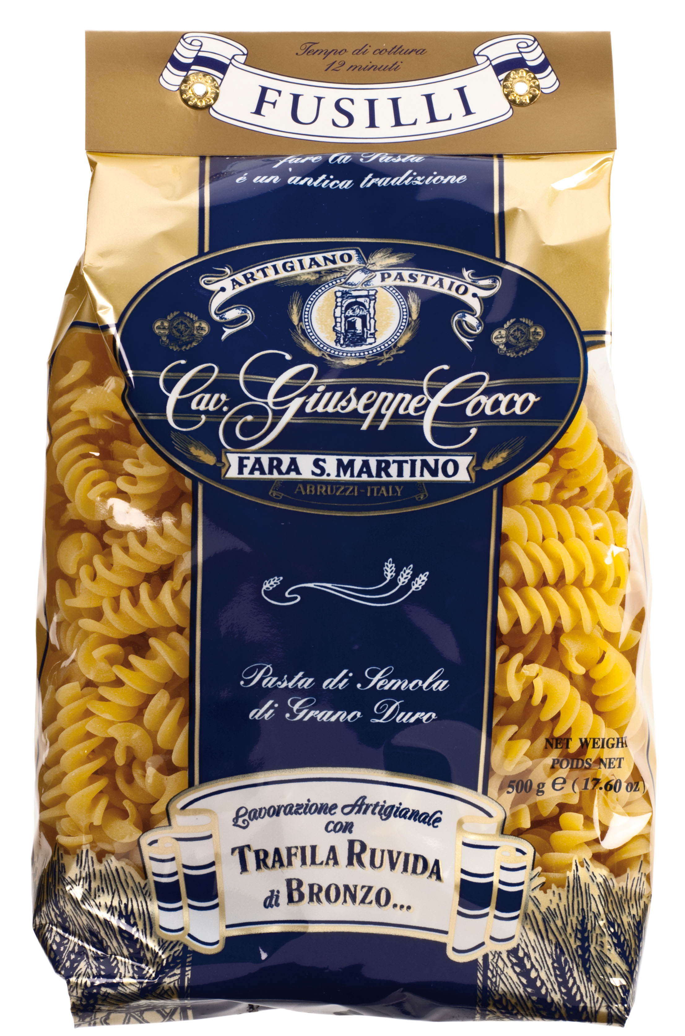 Fusilli Nr. 43 500 g Packung Cocco