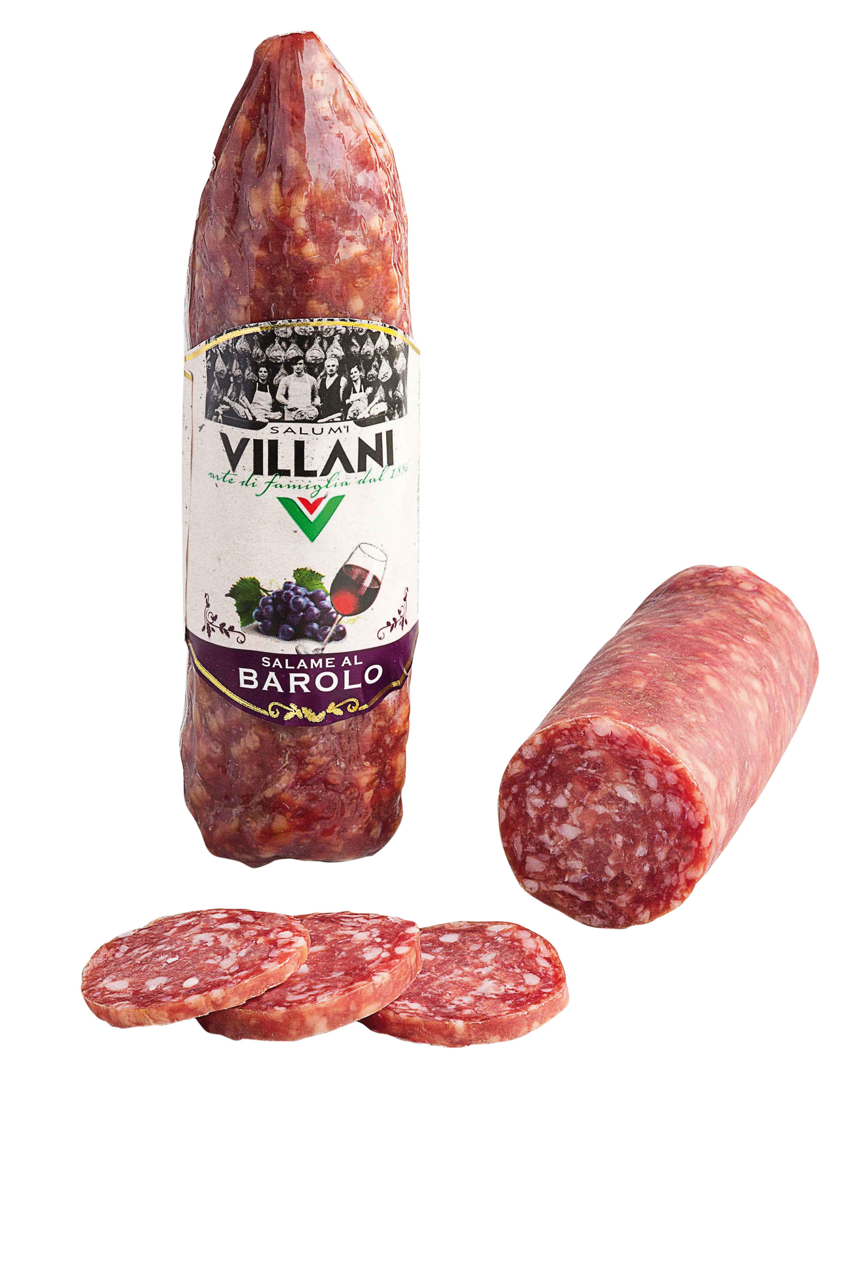 Salame al Barolo DOCG sottovuoto 220 g Villani  ( Kühlartikel)