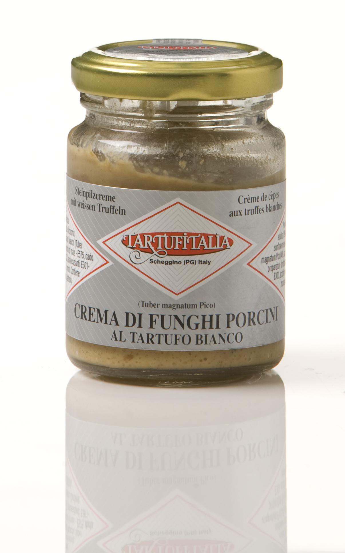 Crema di funghi porcini al tartufo bianco 80 g Glas Tartufitalia Steinpilzcreme mit weißem Trüffel