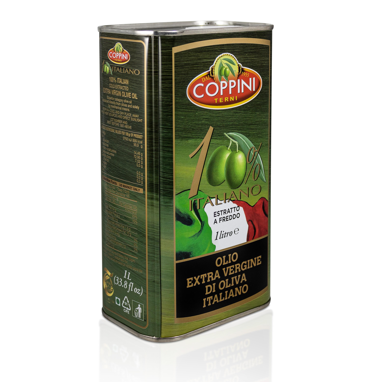 Coppini Terni Olivenöl 1 Liter Kanister - 100% italienisches natives Olivenöl extra Mildes und fruchtig