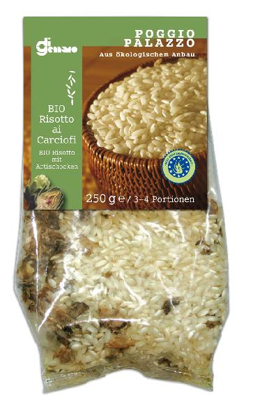 Risotto ai carciofi bio 250 g Belvedere