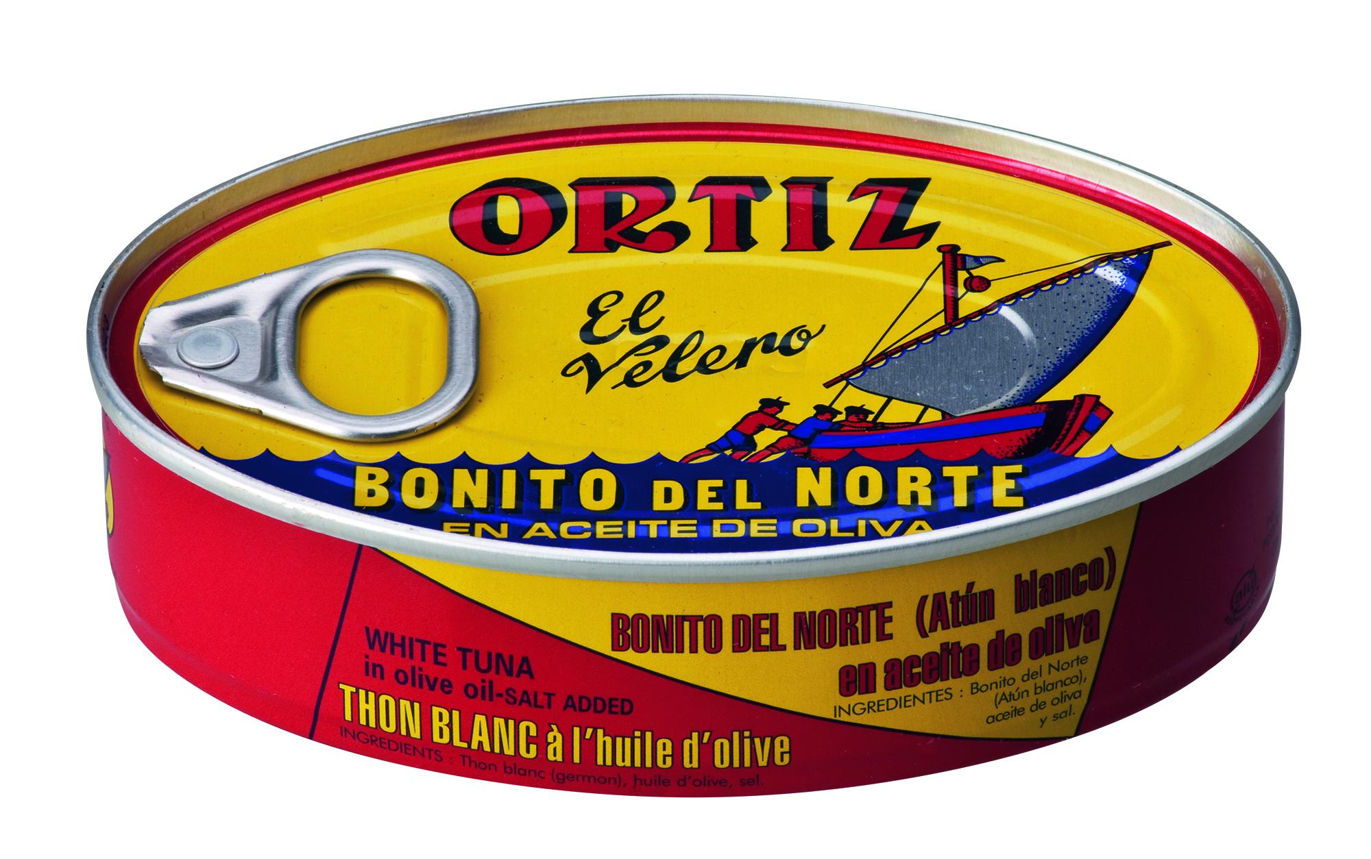 """""""Bonito del Norte"""" Tonno bianco all olio d'oliva 112 g Dose Ortiz"""