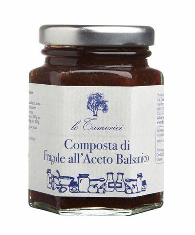 Composta di fragole all Aceto Balsamico di Modena 120 g Glas Le Tamerici