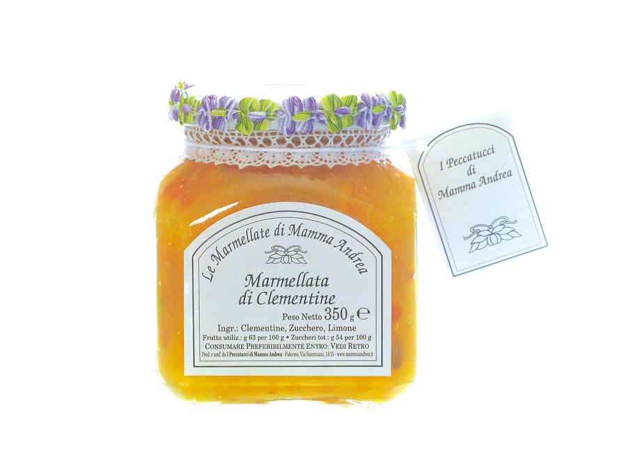 Marmellata extra di clementine 350 g Glas I Peccatucci di Mamma Andrea
