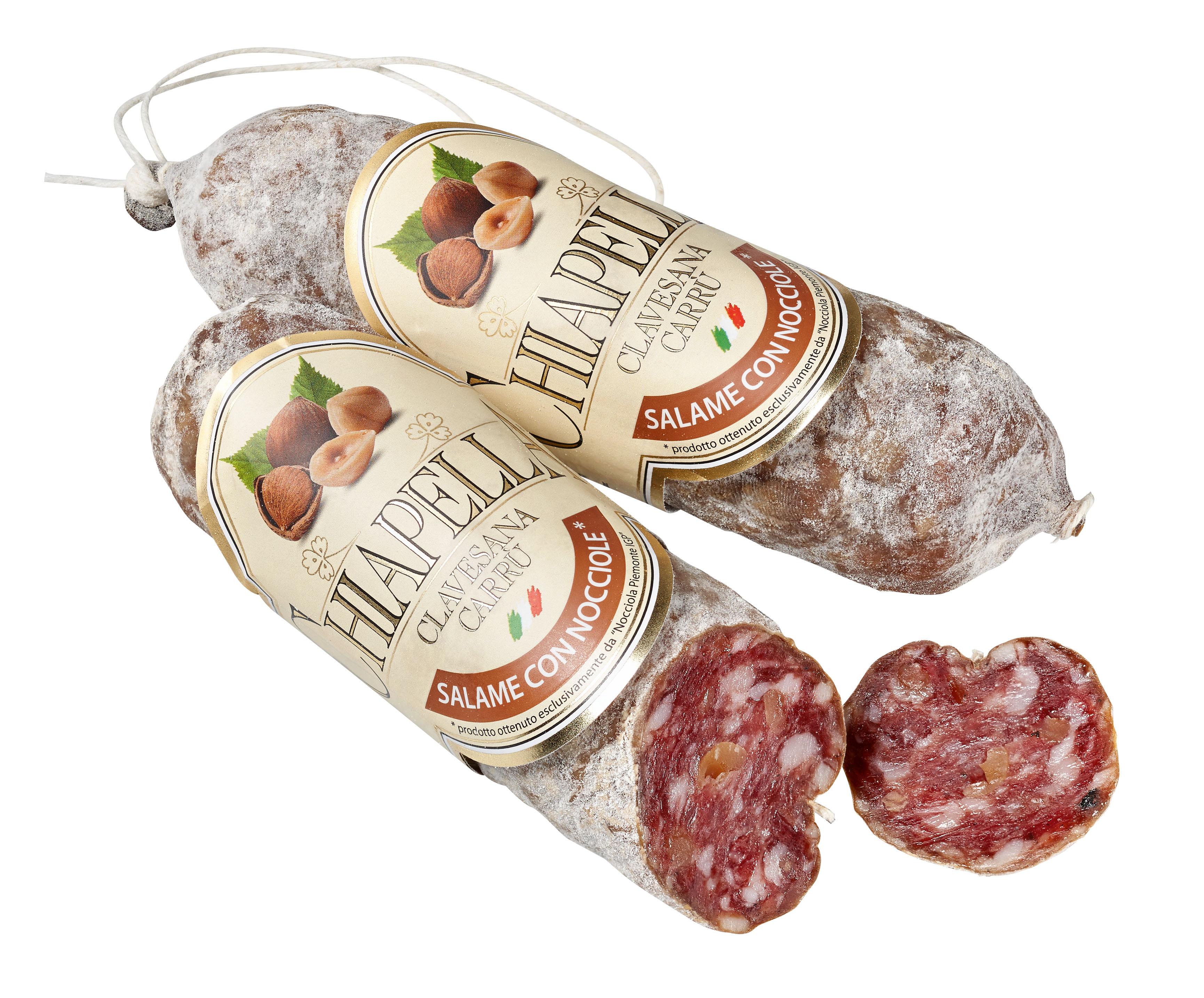 Salame con Nocciola Piemonte  ca. 200 g Chiapella  ( Kühlartikel)